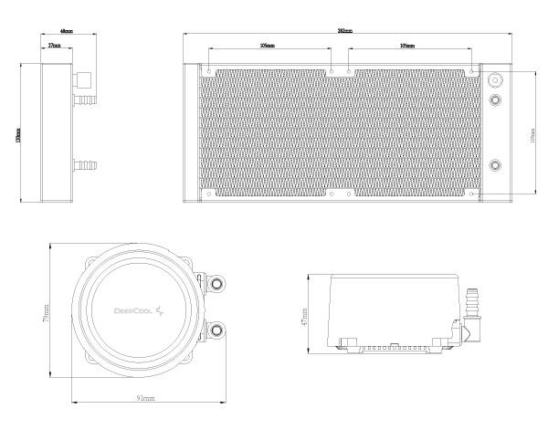 [ZTBE_9966]  GAMMAXX L240 V2 DEEPCOOL- CPU Liquid Coolers | Deepcool Wiring Diagram |  | DEEPCOOL